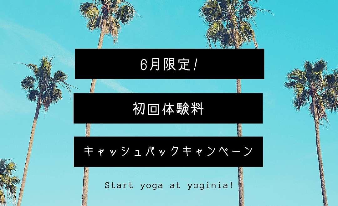 ヨガ&エアリアルヨガ初回体験料キャッシュバックキャンペーン